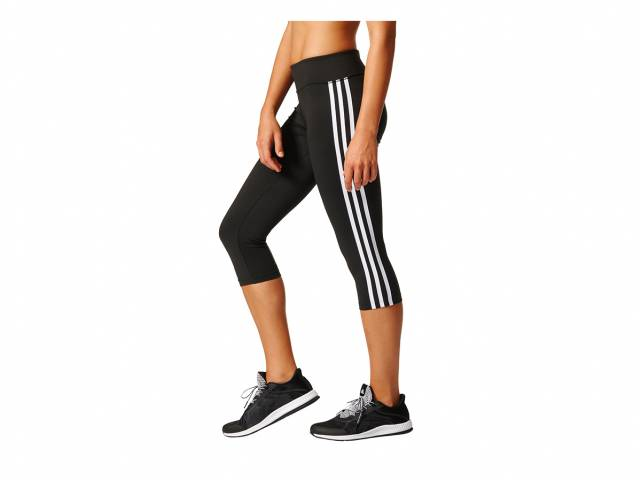 adidas D2M Three-Quarter 3-Streifen Trainingstight (Damen)