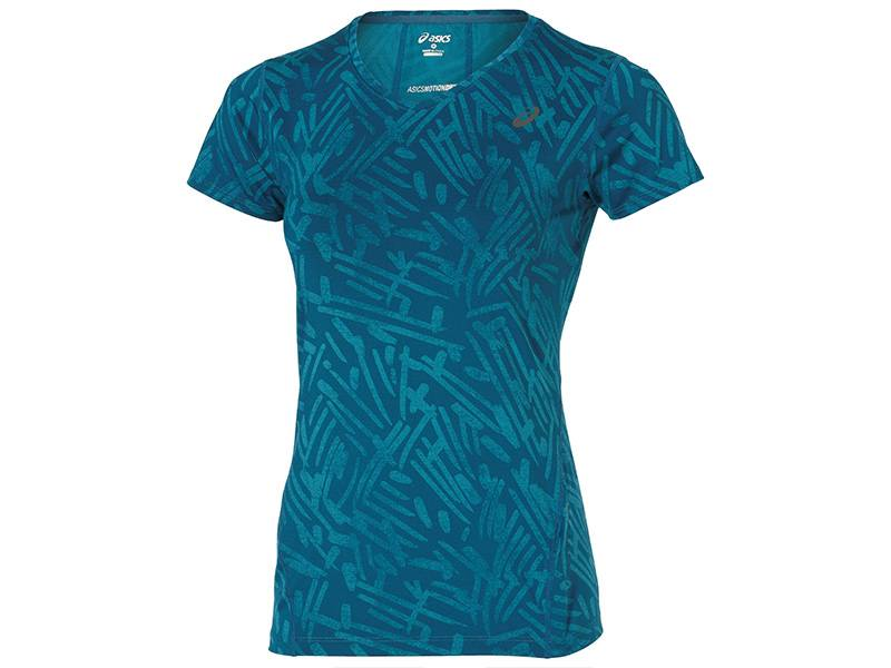 Asics Allover Graphic Top Short Sleeve (Damen)