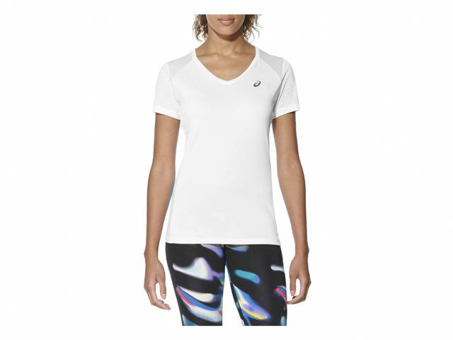 Asics FuzeX V-Neck SS Top (Damen)
