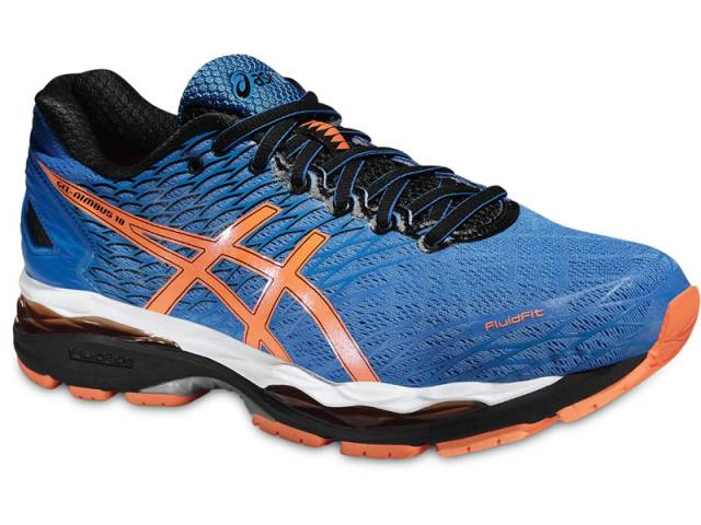Asics Gel Nimbus 18 (Blau-Orange)