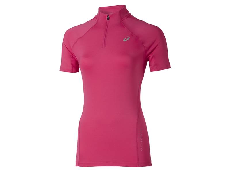 Asics Short Sleeve 1/2 Zip Top (Damen)