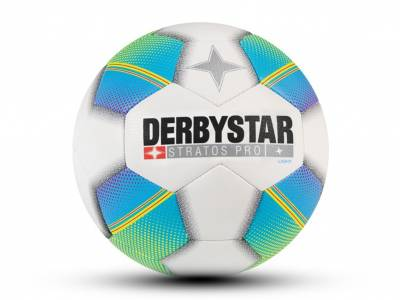 Derbystar Stratos Pro Light, weiß-blau