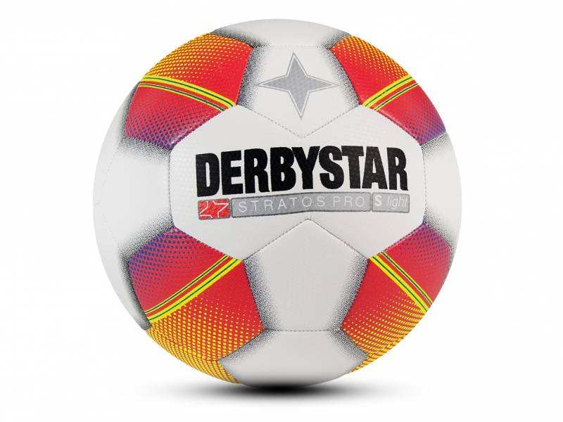 Derbystar Stratos Pro S-Light, weiß-rot-gelb