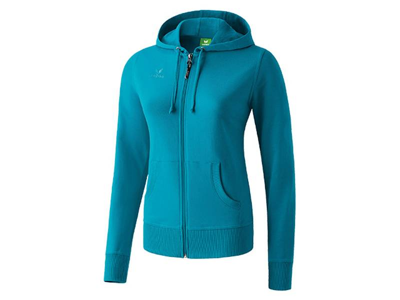Erima Hooded Jacket, petrol (Damen)
