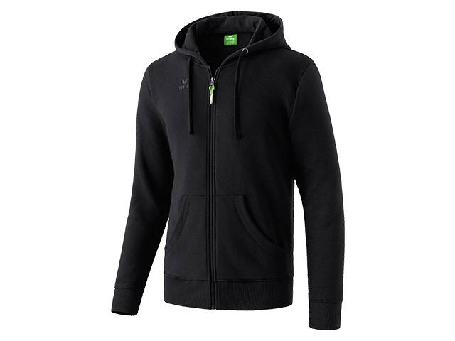 Erima Hooded Jacket, schwarz