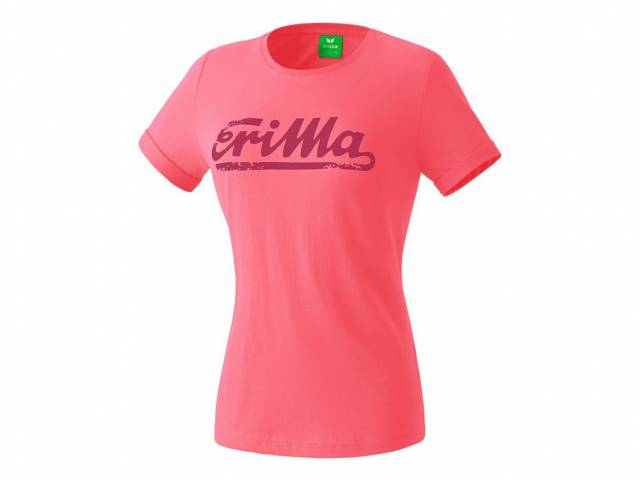 Erima Retro T-Shirt, flamingo (Damen)