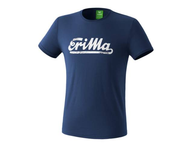 Erima Retro T-Shirt, new navy/weiß
