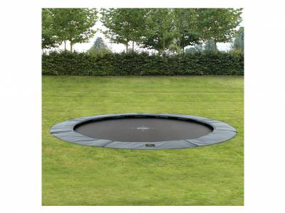 EXIT Gartentrampolin Supreme Ground Level 305 cm Grau