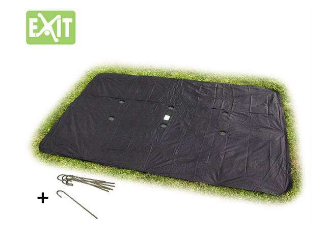 EXIT Supreme Ground Level Gartentrampolin Rechteckig, 244x427 cm