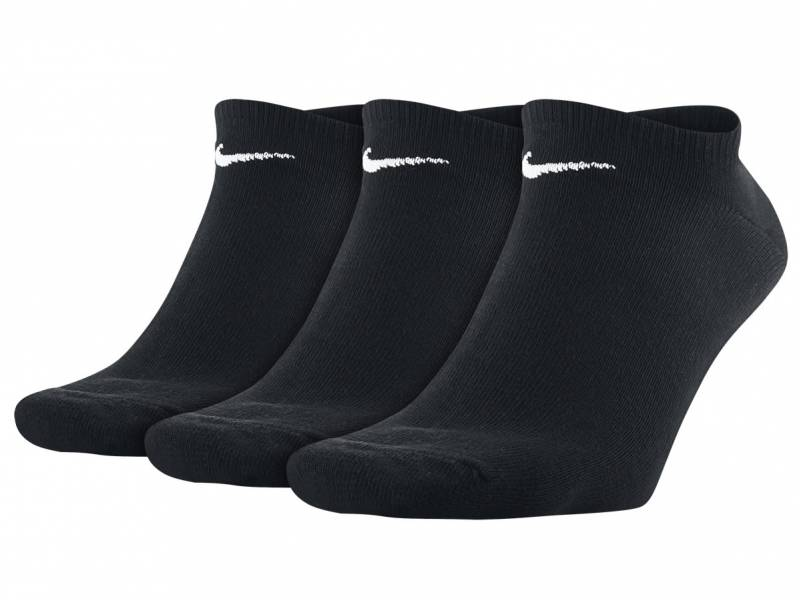 Nike Value No Show 3er Pack Sneakersocken (Schwarz)