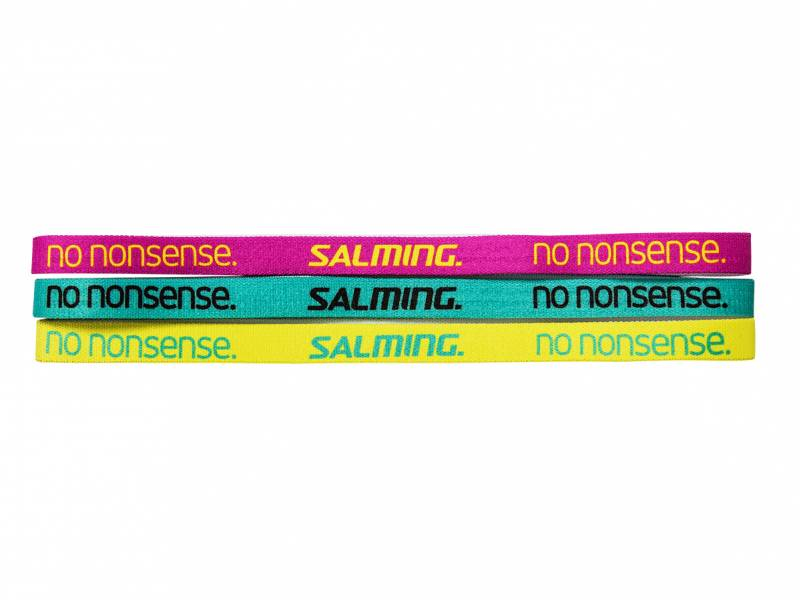 Salming Hairband 3-pack, Pink/Green/Yellow