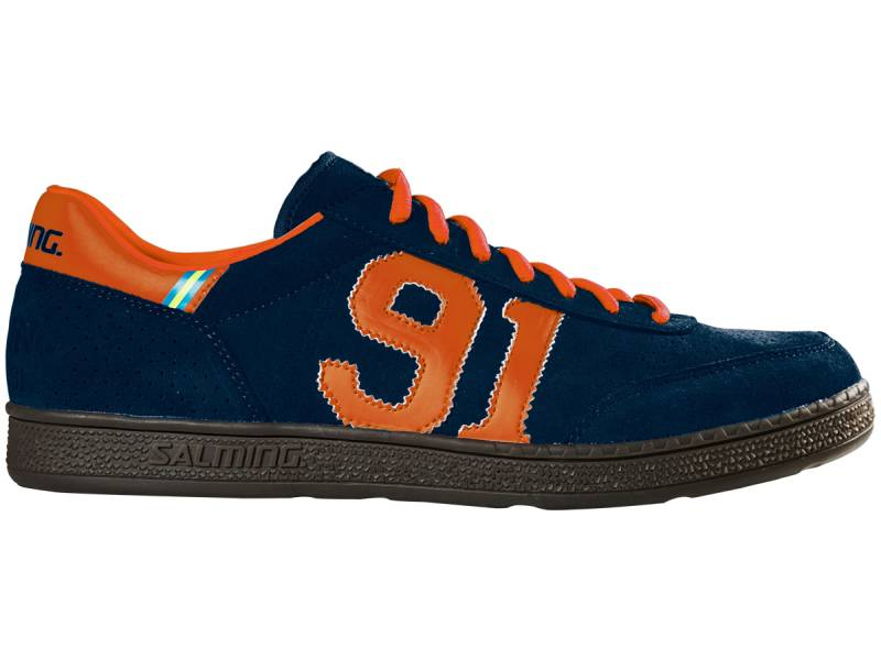 Salming NinetyOne Handball-Torwartschuhe (Blau-Orange)
