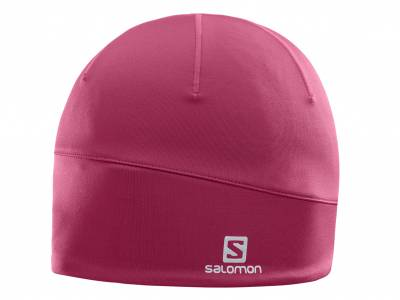 Salomon Active Beanie Beet Red Microfleece-Mütze