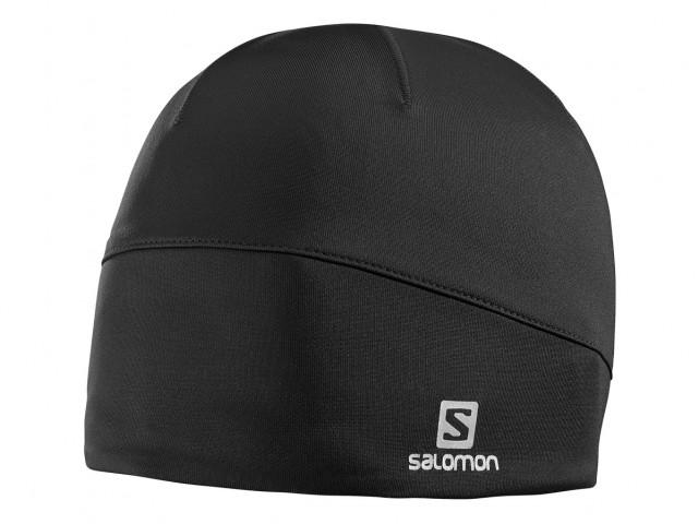 Salomon Active Beanie Black Microfleece-Mütze