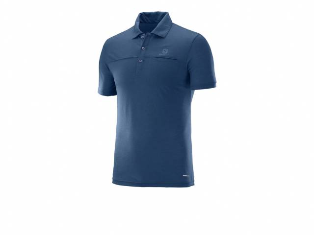 Salomon Polo Shirt EXPLORE POLO M Vintage Indigo (Herren)