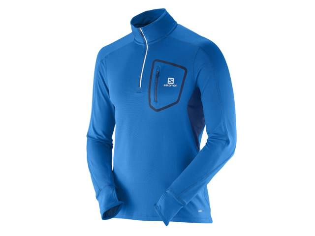 Salomon Trail Runner Warm LS Zip Lauftop